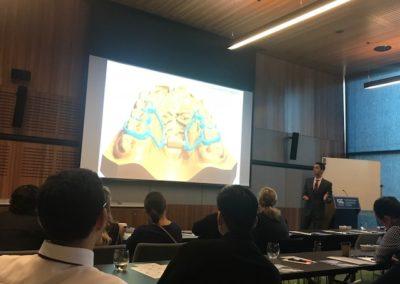 Dr Tarraf lecturing